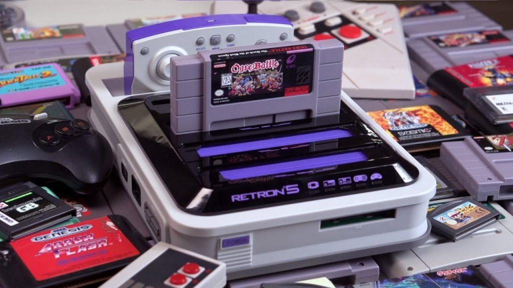 A HyperKin RetroN reproduction videogame console.